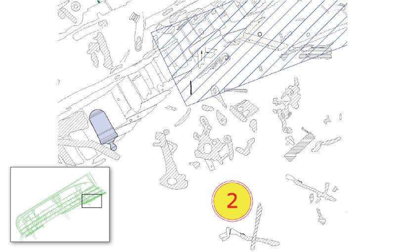 Plan of dive station 2